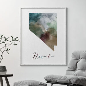 Nevada State map print second