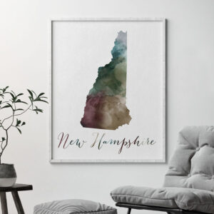 New Hampshire State map print second