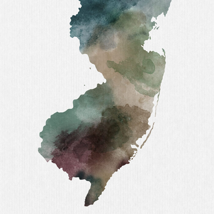New Jersey State map print detail