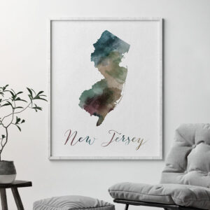 New Jersey State map print second