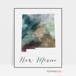 New Mexico State map print