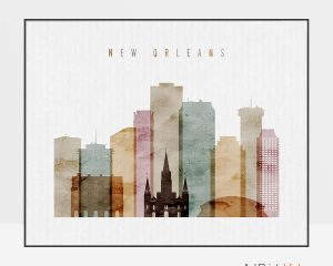 New Orleans poster watercolor 1 landscape
