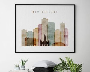 New Orleans poster watercolor 1 landscape second