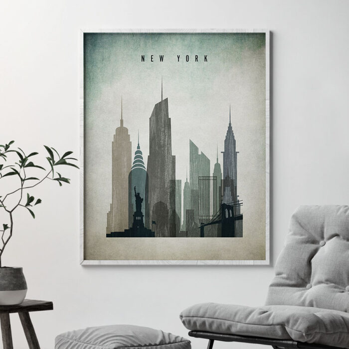 New York poster distressed 3 second