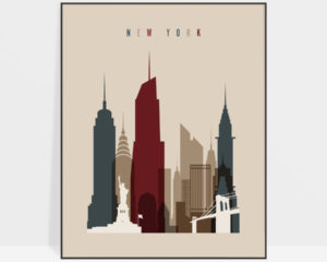 New York poster earth tones 2