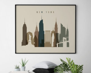 New York art print landscape earth tones 3 second
