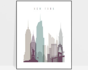 New York City poster pastel 2