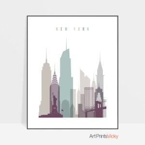 New York City poster pastel 2