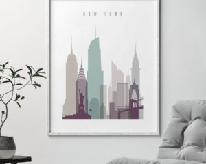 New York City poster pastel 2 second