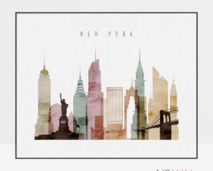 New York poster watercolor 1 landscape