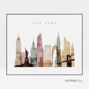 New York skyline watercolor 1 landscape