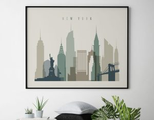 New York City print earth tones 1 landscape second