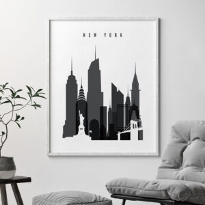New York City poster black and white second