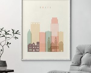 Omaha wall art pastel cream second