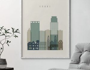 Omaha print skyline earth tones 1 second