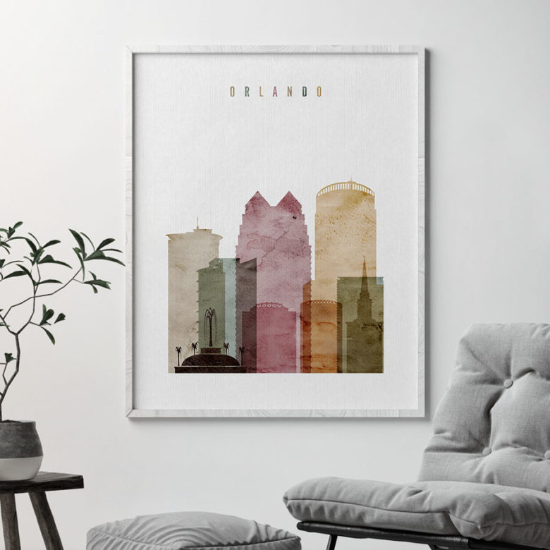 Orlando poster watercolor 1 second