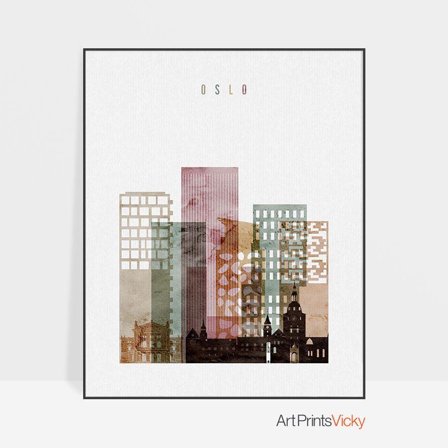 Oslo poster watercolor 1