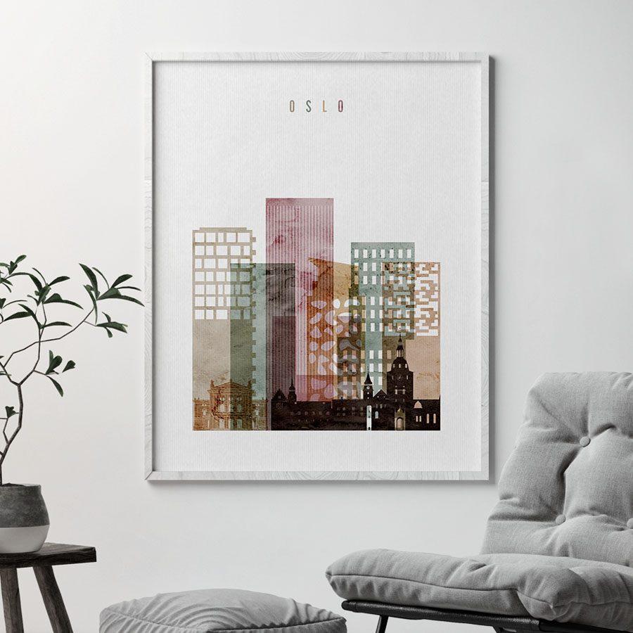 Oslo poster watercolor 1 second