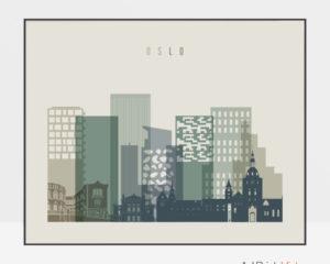 Oslo print earth tones 1 landscape