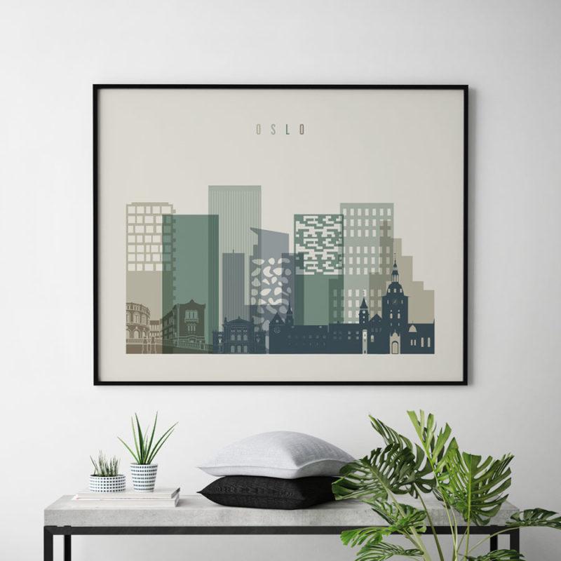 Oslo print earth tones 1 landscape second