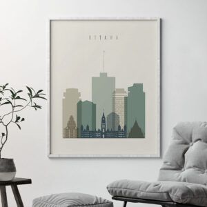 Ottawa print skyline earth tones 1 second