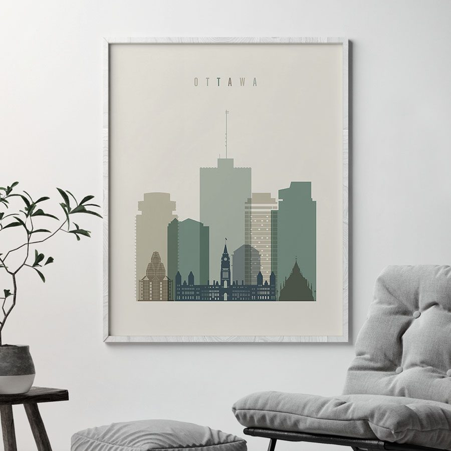 Ottawa print skyline earth tones 1 second