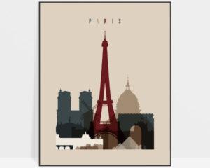 Paris poster earth tones 2