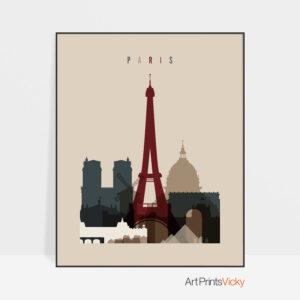 Paris poster earth tones 2