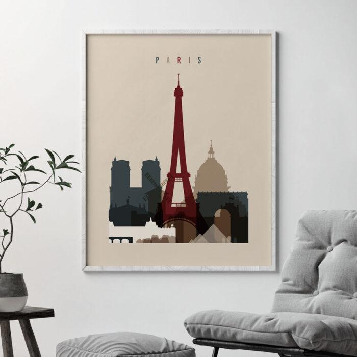 Paris poster earth tones 2 second
