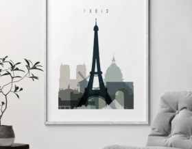 paris poster earth tones 4 second photo at artprintsvicky.com
