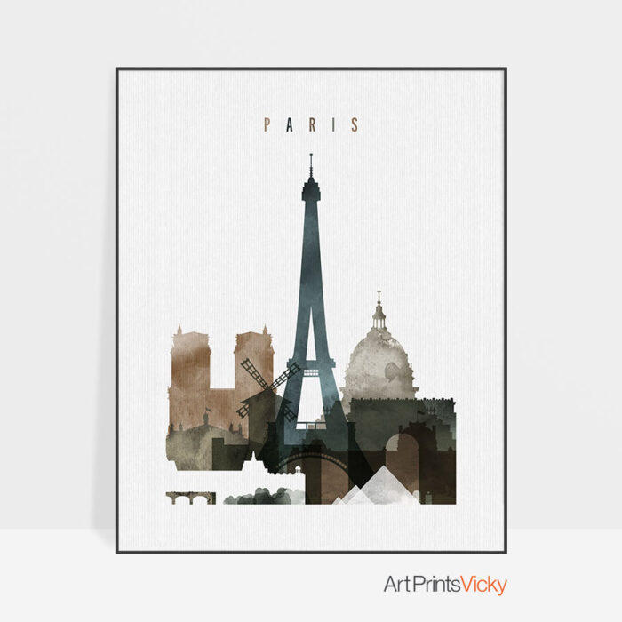 Paris art print watercolor 2