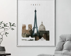 Paris art print watercolor 2 second