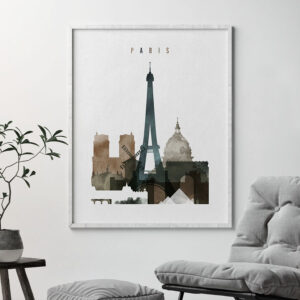 Paris art print watercolor 2 second