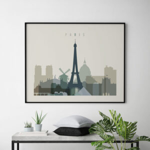 Paris print earth tones 1 landscape second