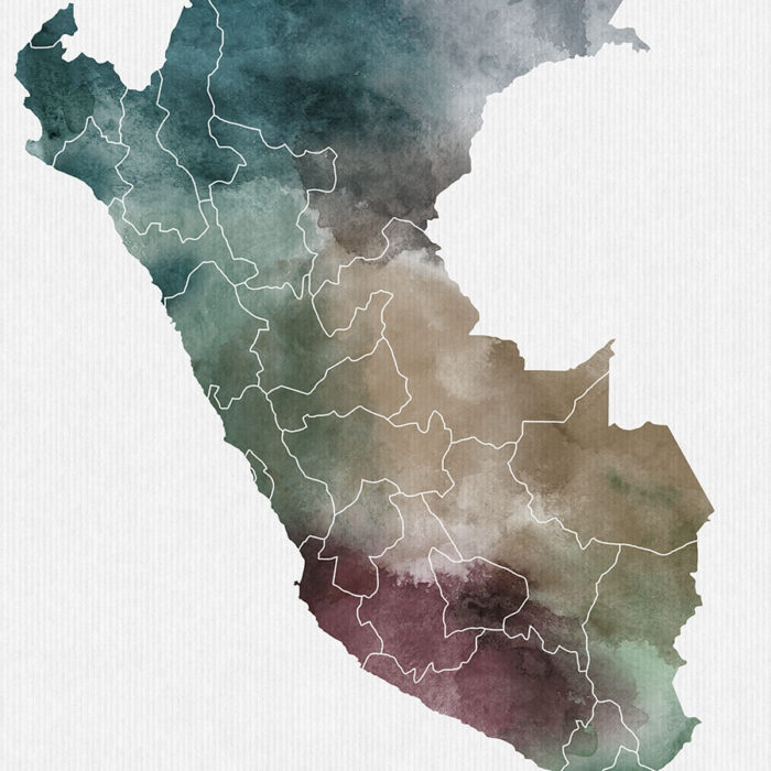 Peru map print detail