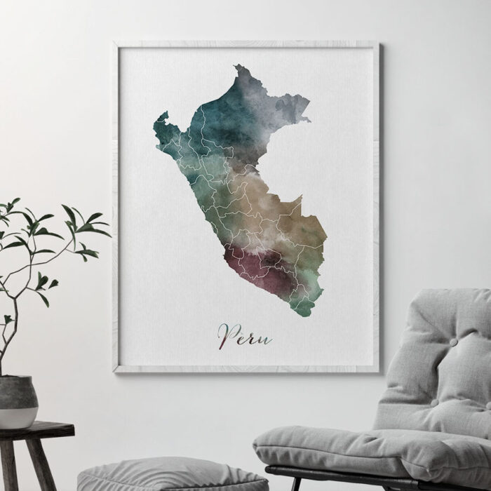 Peru map print second