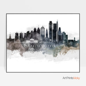 Philadelphia art poster watercolor