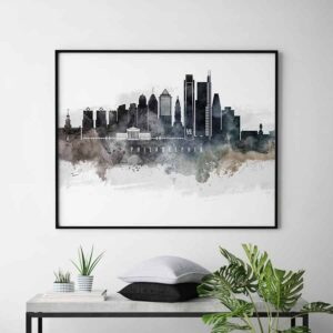 Philadelphia art poster watercolor second