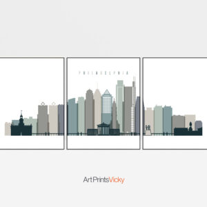 Philadelphia 3 Prints Set Earth Tones 4