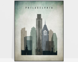 Philadelphia poster distressed 3