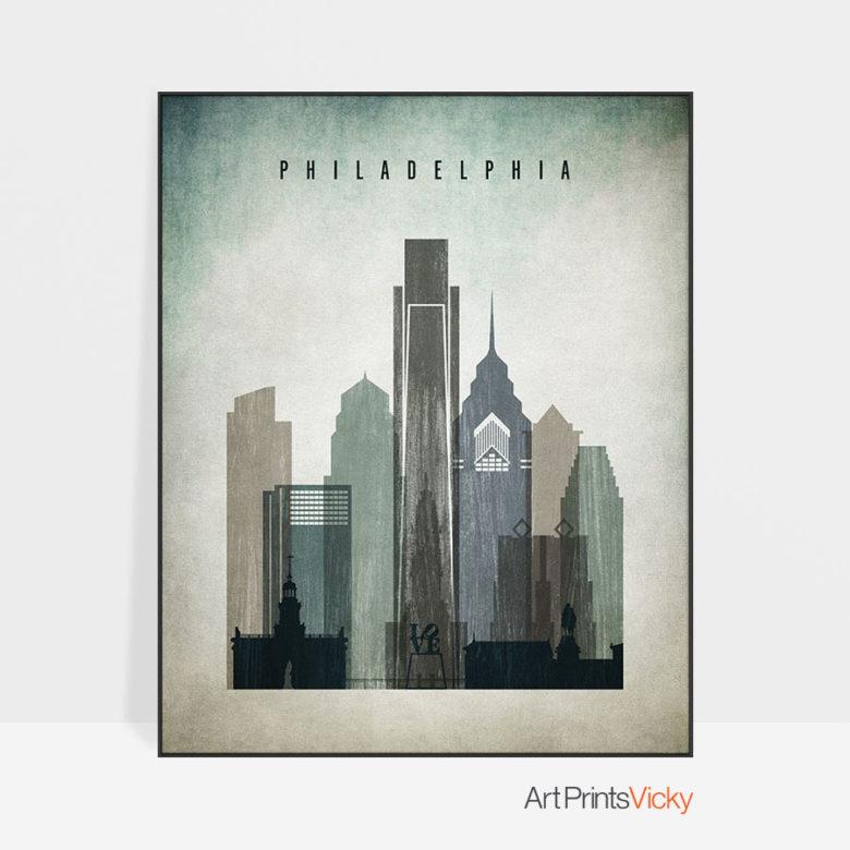 Philadelphia poster distressed 3