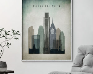 Philadelphia poster distressed 3 second