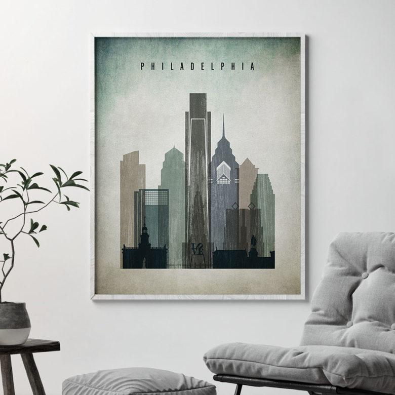 Philadelphia poster distressed 3 second