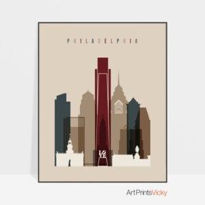 Philadelphia poster earth tones 2