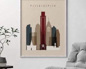 Philadelphia poster earth tones 2 second