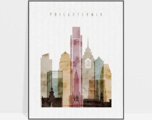 Philadelphia poster watercolor 1