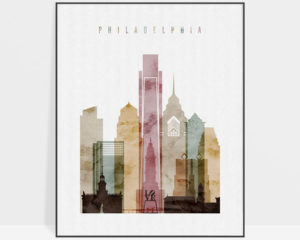Philadelphia poster watercolor 1