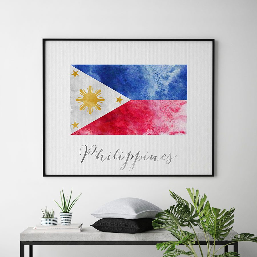 Philippines flag art print second