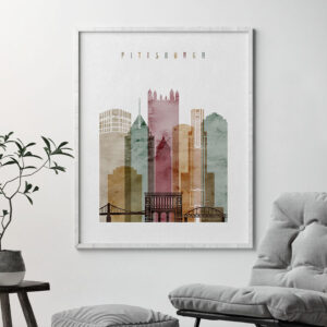 Pittsburgh poster watercolor 1 second