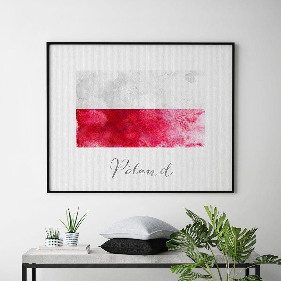 Poland flag art print second